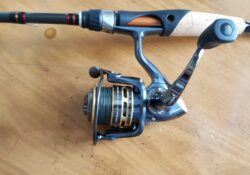 Pflueger President spinning reel on a table